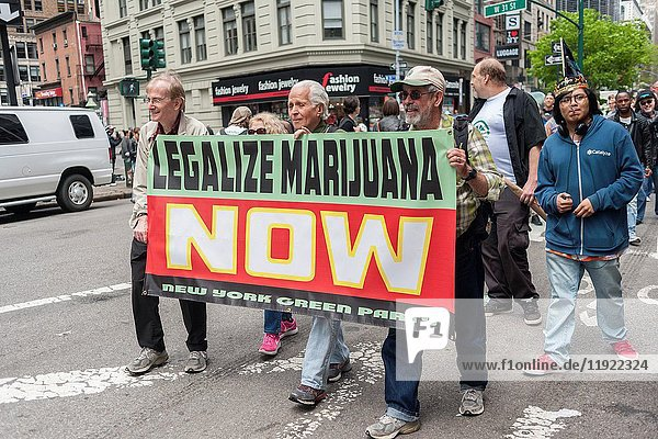 Advocates for the legalization of marijuana march in New York on Saturday  May 6  2017 at the annual NYC Cannabis Parade. The march included a wide range of demographics from millennials to old-time hippies. The participants in the parade are calling for the legalization of marijuana for medical treatment and for recreational uses.