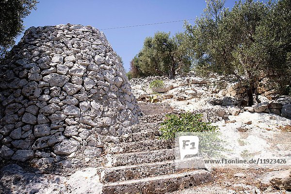 The Pajare  typical stone building for animal shelter  in Salento Puglia Italy.