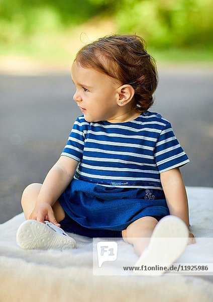 Baby sitting  Getaria  Gipuzkoa  Basque Country  Spain  Europe