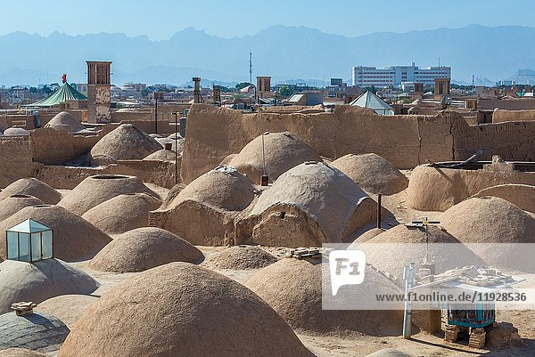 Small domes one the roofs of Khan bazaar in Mosalla quarter of Yazd  capital of Yazd Province of Iran.