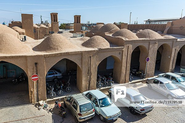 View from the roof of Khan bazaar in Mosalla quarter of Yazd  capital of Yazd Province of Iran.