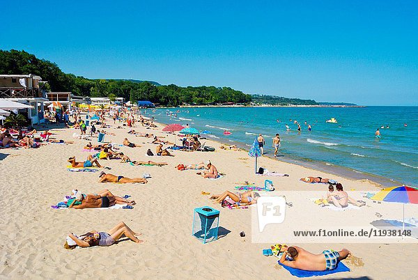 City beach  south beach  Varna  Bulgaria.