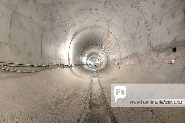 Construction site of a subway tunnel