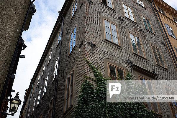 Schweden  Stockholm  Hausfassade