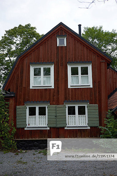 Schweden  Stockholm  Haus in der Fjällgatan