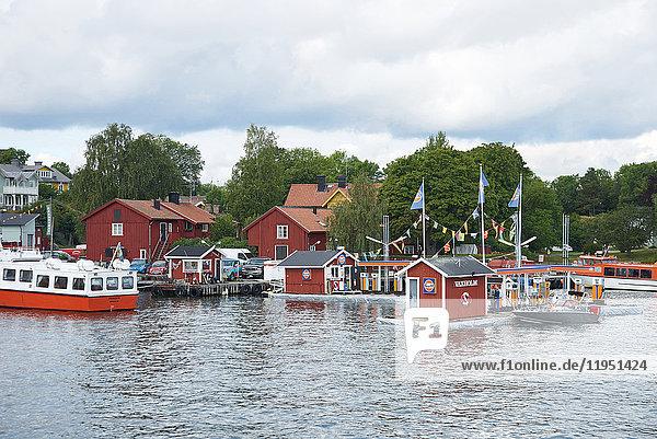 Schweden  Vaxholm  Hafen