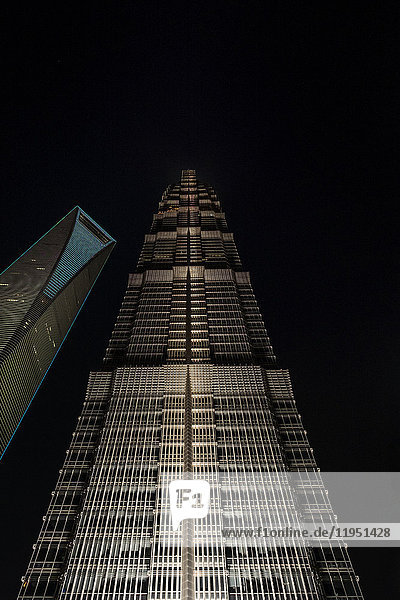 China  Shanghai  Jin Mao Tower und Shanghai World Financial Center