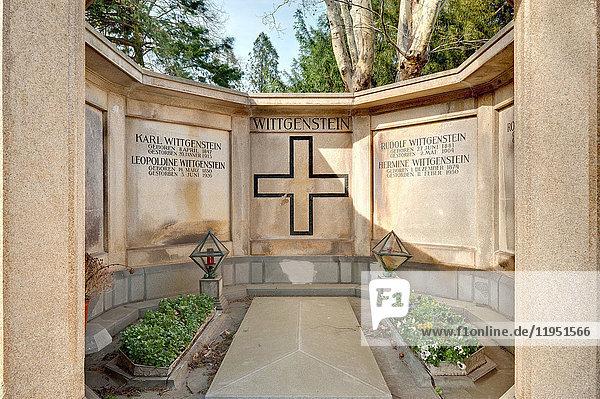 Austria  Vienna  Zentralfriedhof  tomb of family Wittgenstein