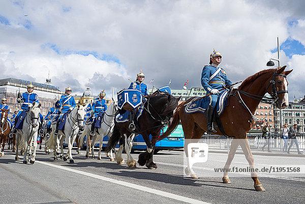 Schweden  Stockholm  Militärparade