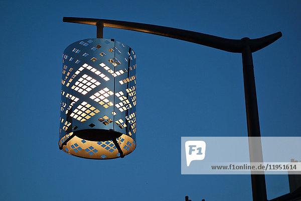 Modern street lantern at night