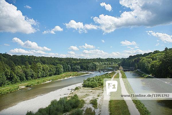 Germany  Bavaria  Pullach  River Isar