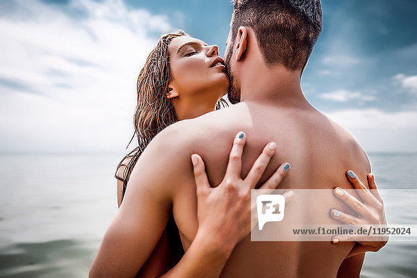 Ehepaar am Strand