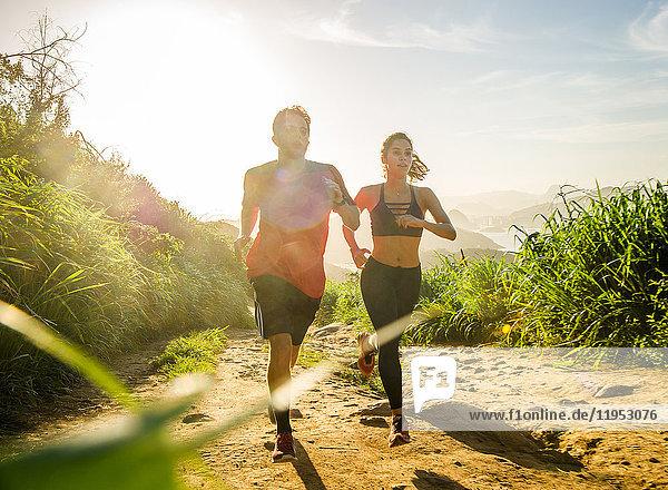 Runners training  Rio de Janeiro  Brazil