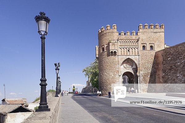 Puerto del Sol town gate Toledo  Castilla-La Mancha  Spain  Europe