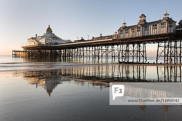 Eastbourne Pier at sunrise  Eastbourne  East Sussex  England  United Kingdom  Europe