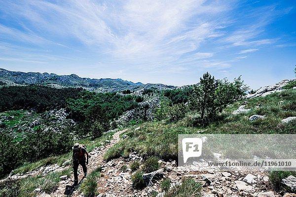 Landscape in Biokovo National Park in Croatia Europe.