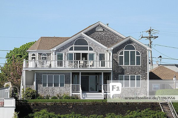 A home near Hyannis Harbor  Cape Cod  Massachusetts  United States  North America. Editorial use only.