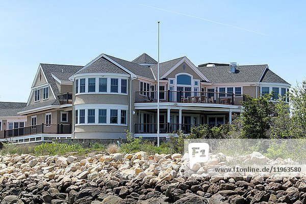 A large home on Barnstable Harbor  Barnstable  Cape Cod  Massachusetts  United States  North America. Editorial use only.