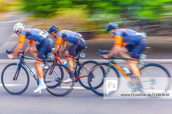 LXII Tenerife island cycling tour 2017 held in Tejina municipality.