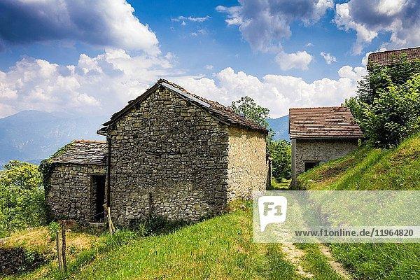 Perlana valley  Como province  Lombardy  Italy  Europe.