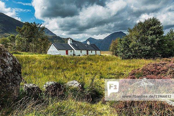 Blackrock Cottage and Buachaille Etive Mor  Glencoe  Scotland.