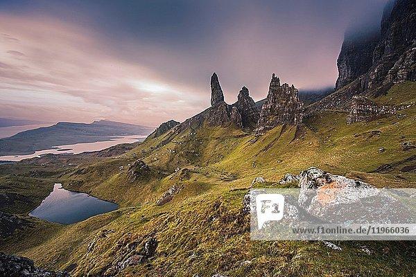 Old Man of Storr rock formation  Isle of Skye  Scotland.