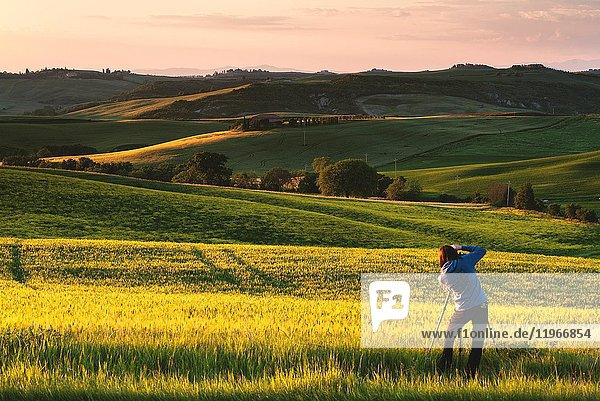Europe,  Italy photographer in Orcia valley,  province of Siena,  Tuscany.