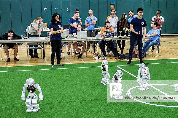Florida  Miami  University of Miami  RoboCup Open  robots  SoftBank Robotics NAO robot  AI artificial intelligence  student  competition  autonomous humanoid  woman  Penn Engineering