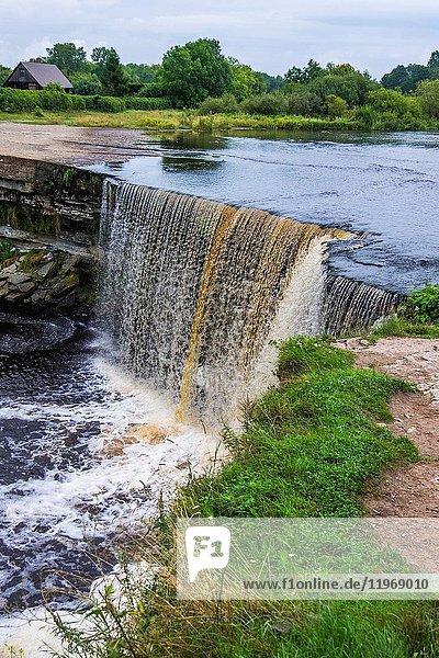 The Jagala Waterfall in Estonia  Europe.