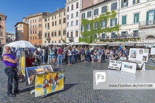 Piazza Navona  Rome  Lazio  Italy  Europe.