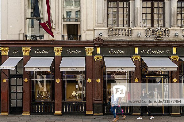 The Cartier Jewellery and Gift Store In New Bond Street  London  UK.