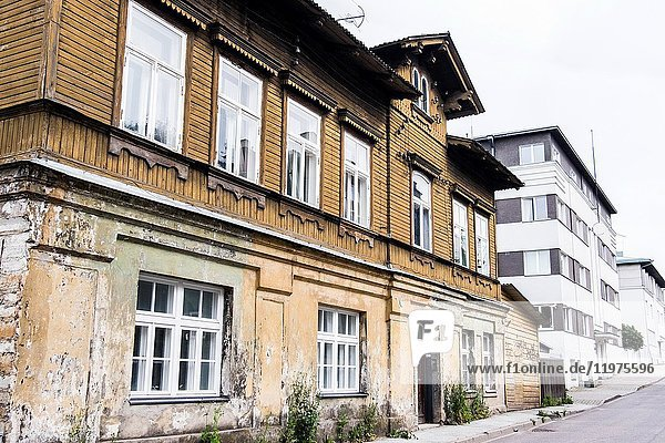 Traditional mansions in Tallinn  Estonia  Europe.