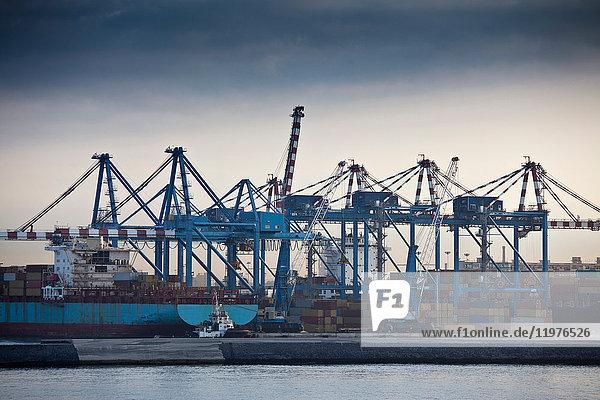Containerterminal  Neapel  Italien