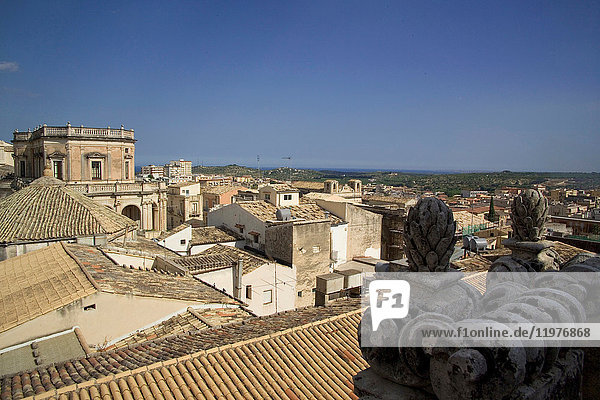 Rooftop view  Noto  Sicily  Italy  Europe