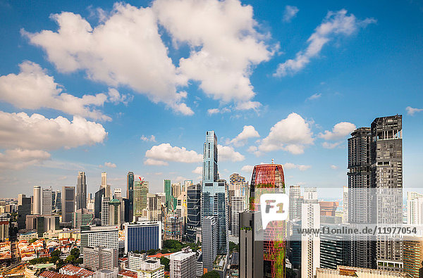 Financial district cityscape and skyline  Singapore  South East Asia