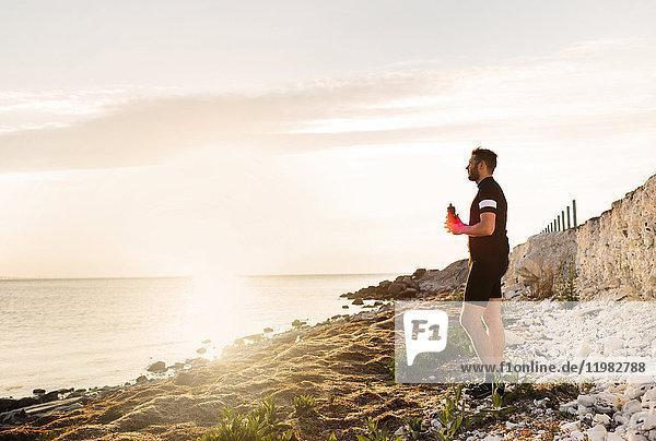 Man in sportswear looking at view Man in sportswear looking at view