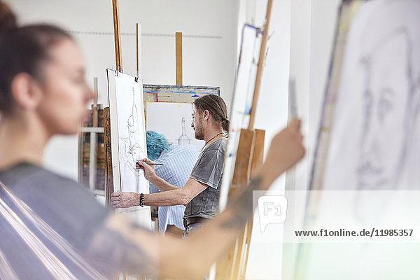 Arbeitswelt,benutzen,Beruf,berühren,Bildende Kunst,Bildung