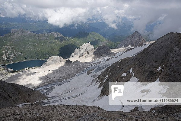 Marmolada  Italy  Europe  Trentino  Dolomites  Alps  Fassa Valley .