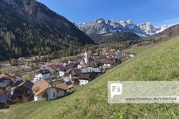 Europe  Italy  South Tyrol  Bolzano province  the village of Longiarù - Campill in municipality of San Martin de Tor.