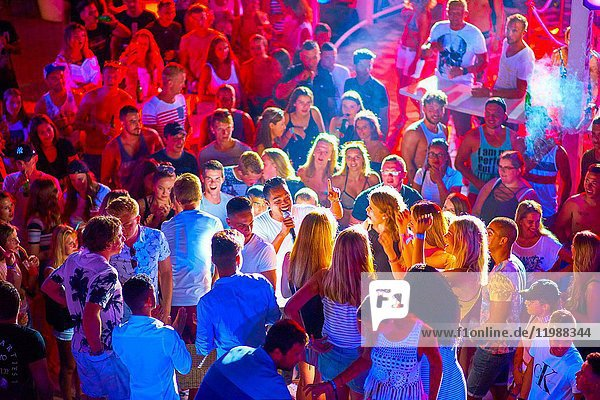 MC between party crowd at summer party at music festival Starbeach in Hersonissos  Crete  Greece  on 09. July 2017