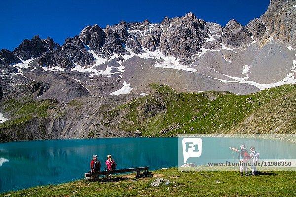Lake sainte anne qeyras in hautes alpes in france.