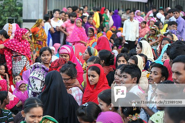 Bangladeshi garments workers attend a demonstration protest for their due salary and wages in front of National Press Club in Dhaka. The economy of Bangladesh is largely dependent on agriculture. However  the Ready Made Garments (RMG) sector has emerged as the biggest earner of foreign currency. In 1972  the World Bank approximated the gross domestic product (GDP) of Bangladesh at USD 6. 29 billion  in 2014  the GDP stood at USD 173. 82 billion  growing by almost 27 times in a matter of four decades. Bangladesh's exports industry alone comprised USD 31. 2 billion in FY 2014-15  81. 69% of which was made up by ready-made garments. On its own  the knitwear sector encompasses 39. 83% of total exports. a staggering USD 12. 43 billion. The RMG sector has experienced an exponential growth since the 1980s. The sector contributes significantly to the GDP. It also provides employment to around 4. 2 million Bangladeshis  mainly women from low income families.