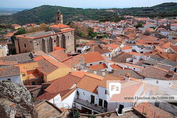 View of the village Montánchez. Cáceres.