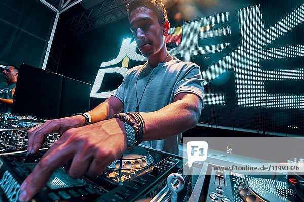 DJ Joey Dale at music festival Starbeach in Hersonissos  Crete  Greece  on 25. August 2017