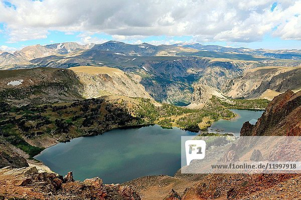 Alpine lake in the Beartooth Mountains of Wyoming