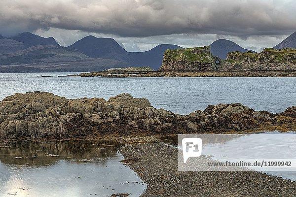 Tokavaig  Dunscaith Castle  Sleat  Isle of Skye  Scotland  United Kingdom.