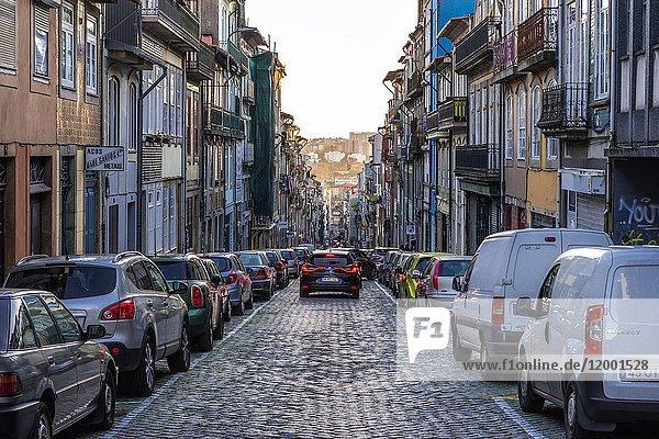 Rua do Almada cobblestone street in Cedofeita former civil parish of Porto city on Iberian Peninsula  second largest city in Portugal.