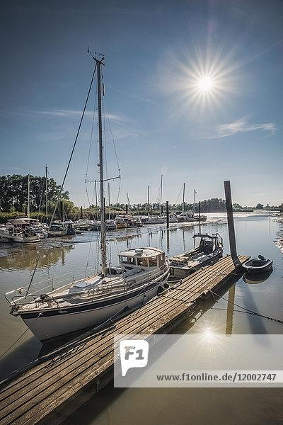 Segelboot, Hafen, Haseldorf, Schleswig-Holstein, Deutschland, Europa