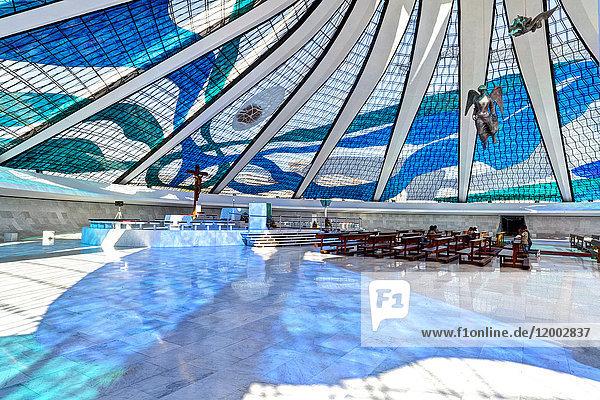 Kathedrale, Brasilia, Distrito Federal do Brasil, Brasilien, Südamerika, Amerika
