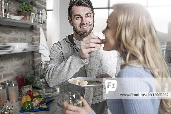 Verkostung von Speisen in der Küche